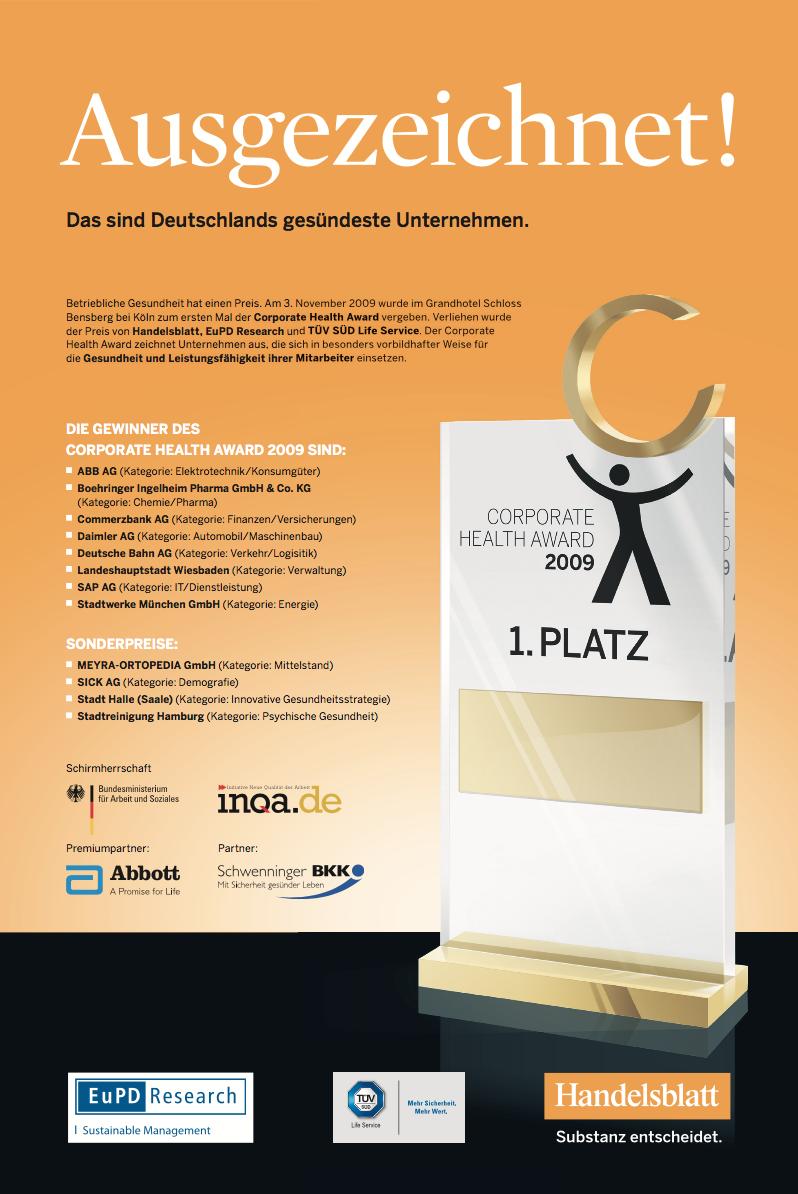Gewinneranzeige 2009